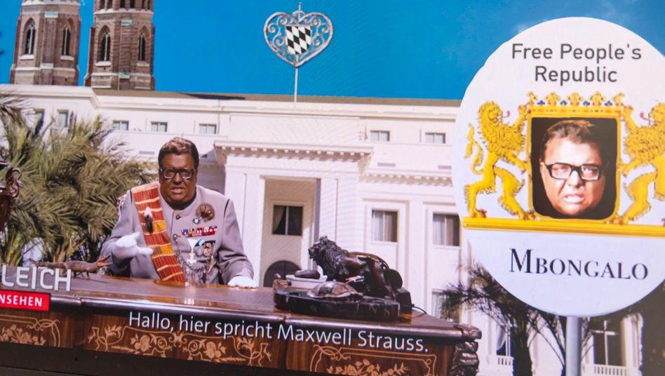 Satiriker Helmut Schleich mimte »Maxwell Strauß«, der als schwarzer Despot politische Tipps gab