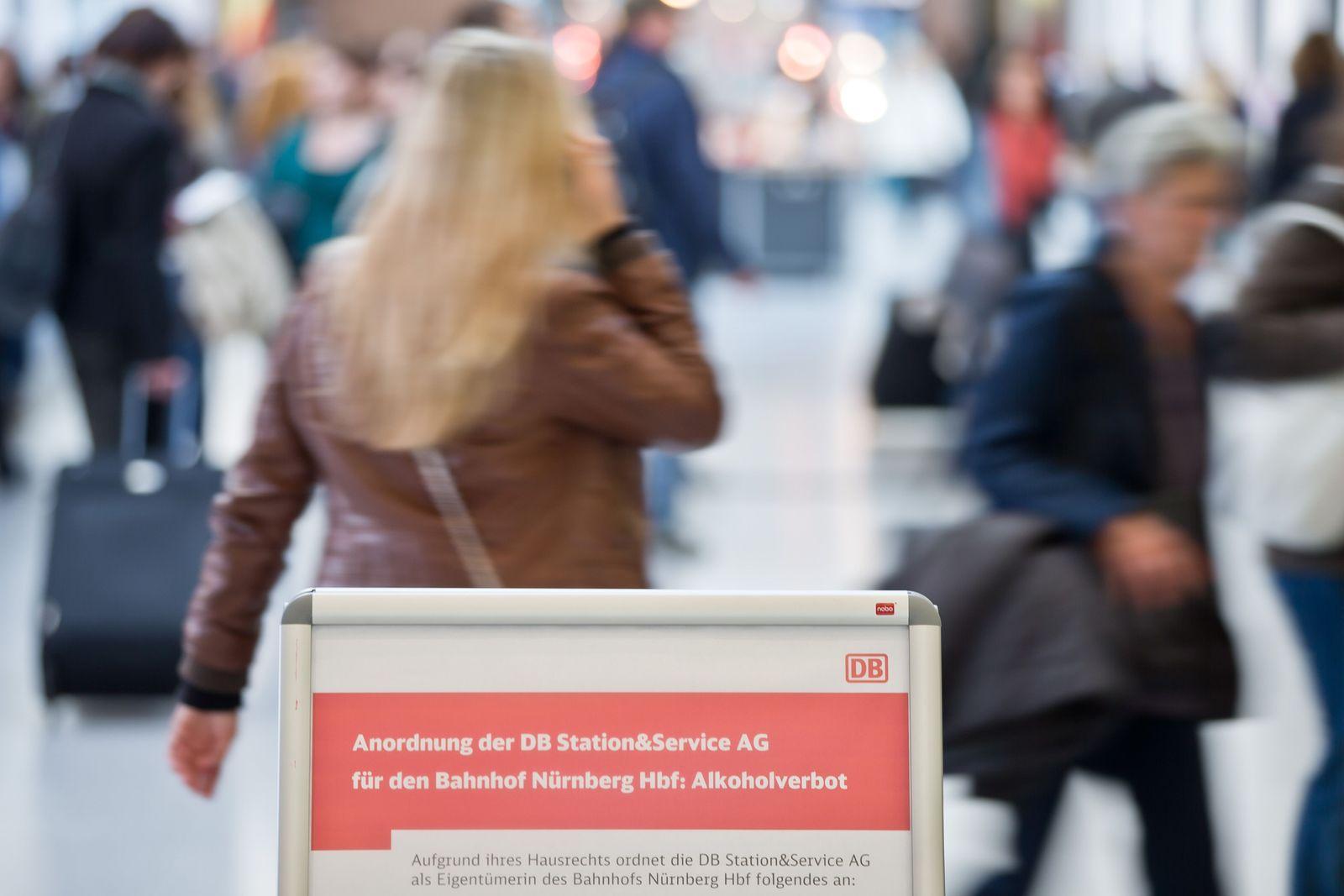 Alkoholverbot im Nürnberger Hauptbahnhof