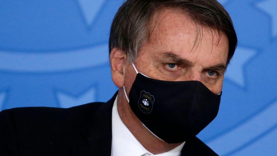 Brasiliens Präsident Jair Bolsonaro: Ein Kritiker von Quarantänevorschriften und Kontaktbeschränkungen