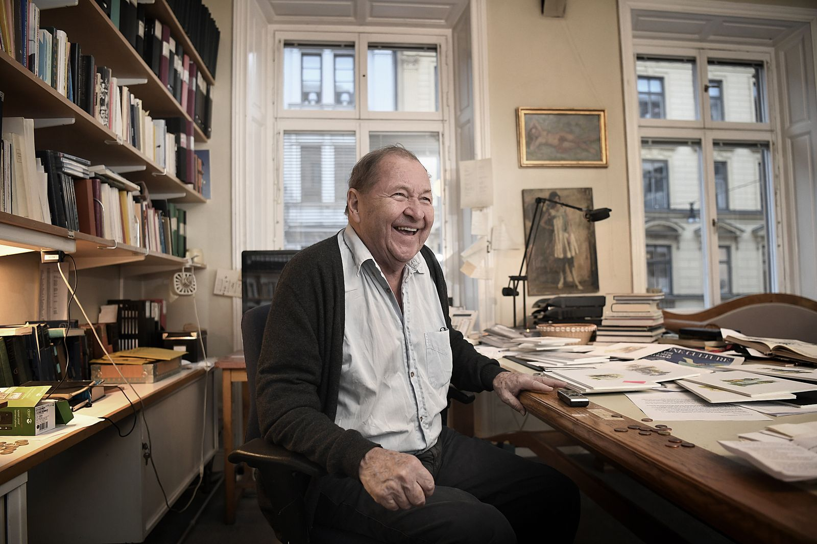 STOCKHOLM 2019-11-11 Swedish director Roy Andersson in his studio in Stockholm. Earlier this year he was awarded the Sil