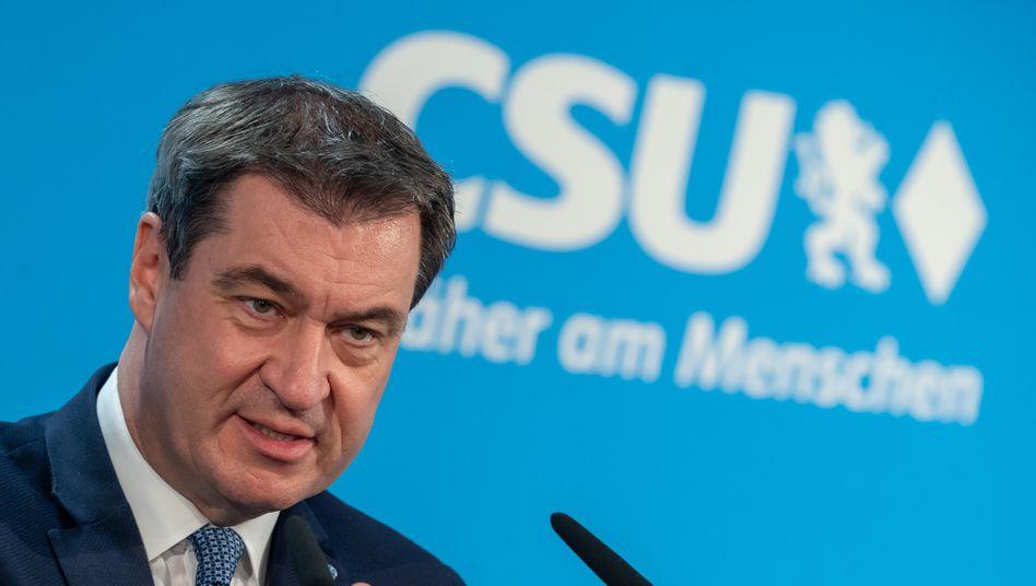 Markus Söder vor CSU-Parteitag: Es braucht eine Obergrenze
