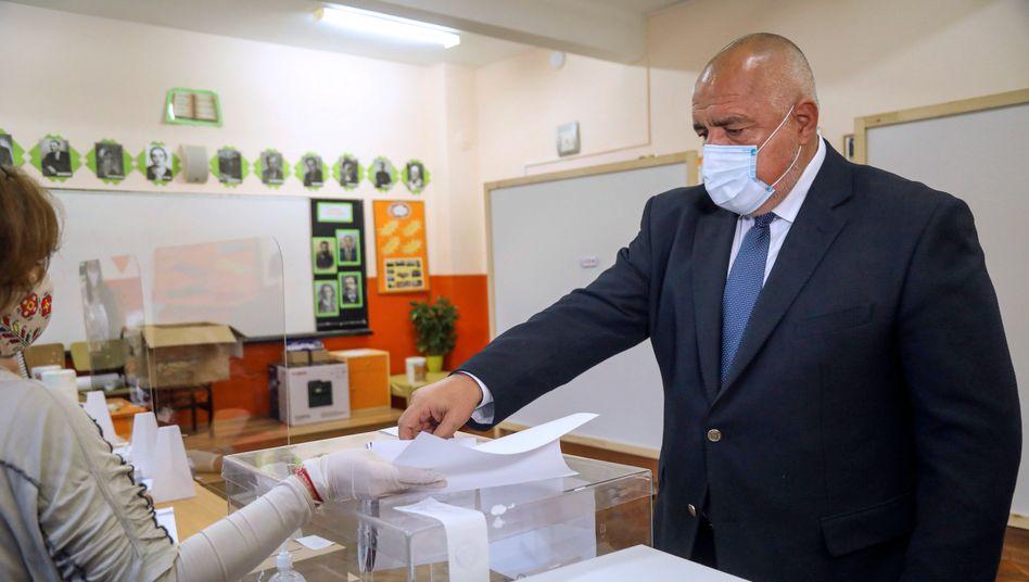 Bei der Stimmabgabe: Bulgariens Regierungschef Borissow