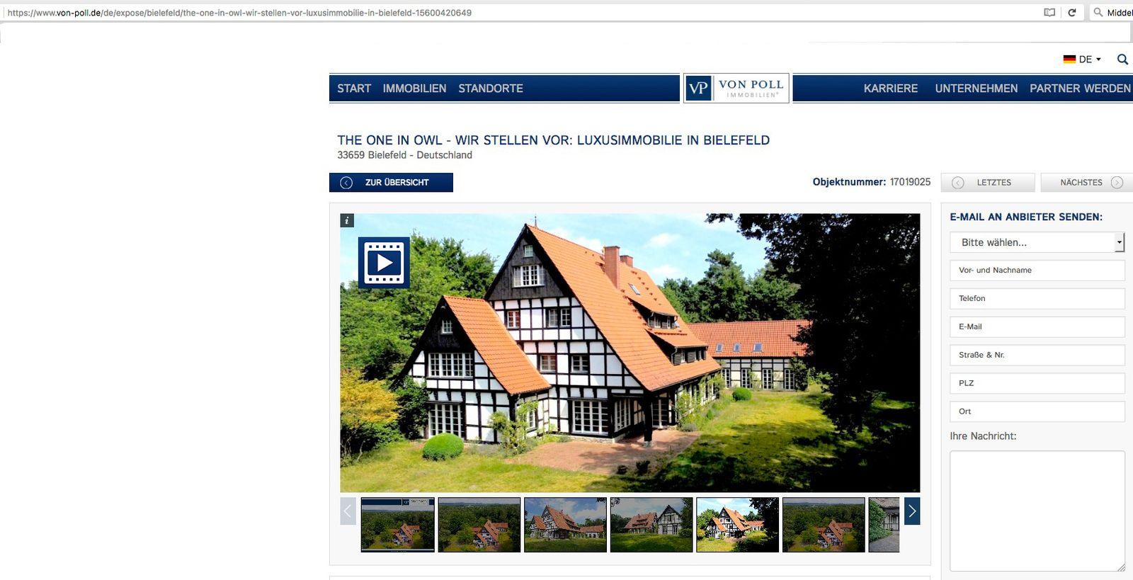 EINMALIGE VERWENDUNG Villa in Bielefeld-Senne / Thomas Middelhoff