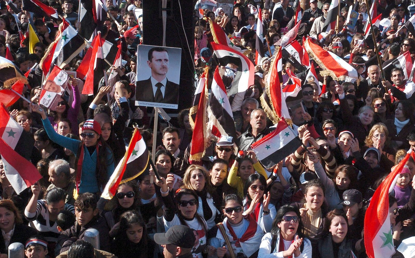 Syrien / Pro-Assad Demonstration