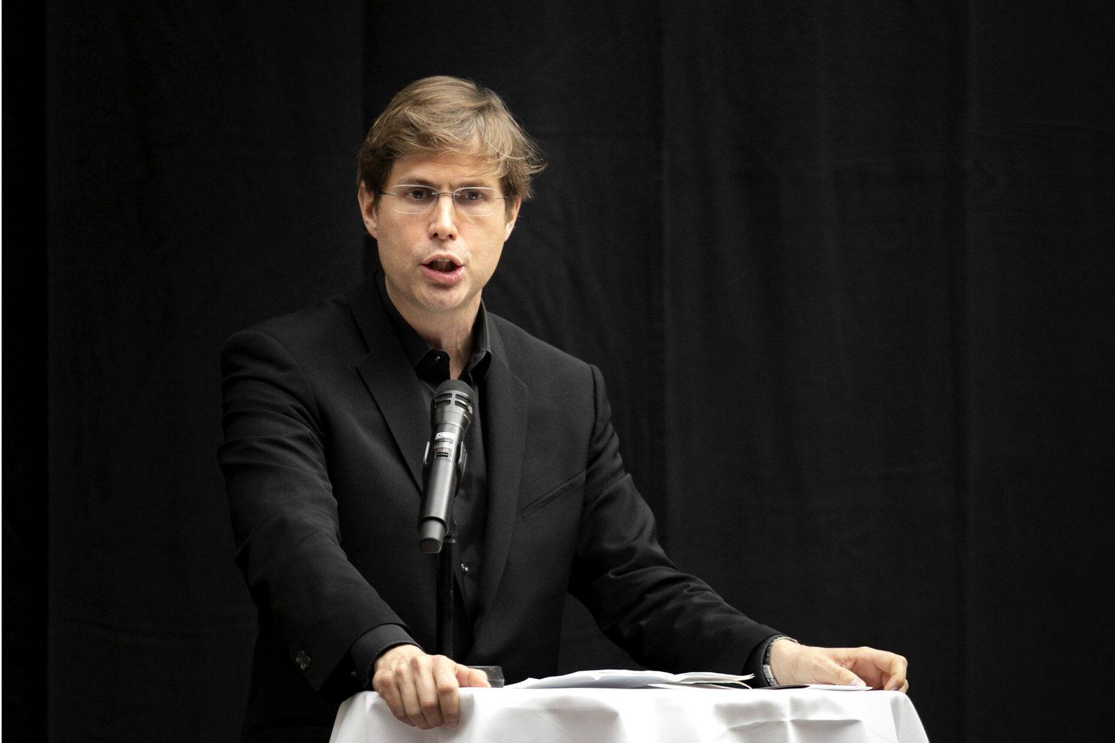 Daniel Kehlmann, Autor, aufgenommen bei einer Rede im Nationalmuseum in Kopenhagen. 08.11.2019. Kopenhagen Daenemark **