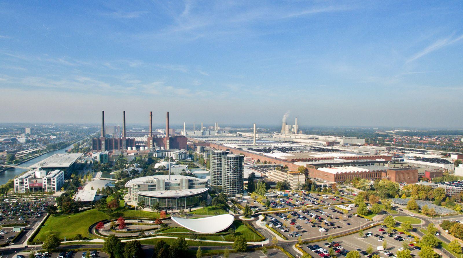 Wolfsburg/ VW Werk/ von oben