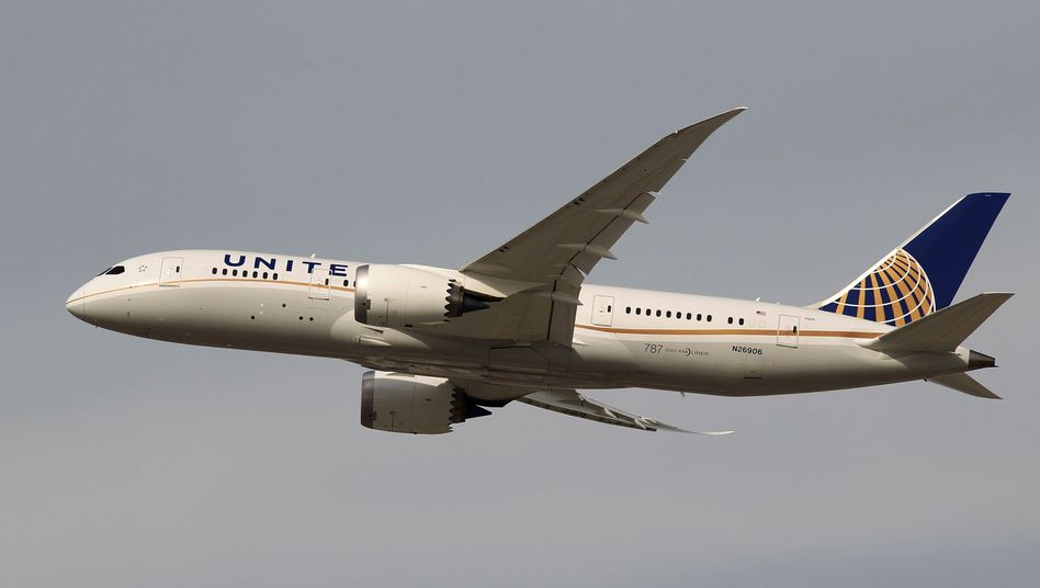 United-Airlines-Flugzeug nahe Los Angeles: Stress mit dem Sitznachbarn