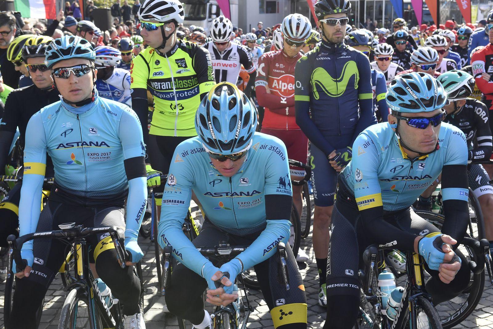 Schweigeminute für Radrennfahrer Scarponi