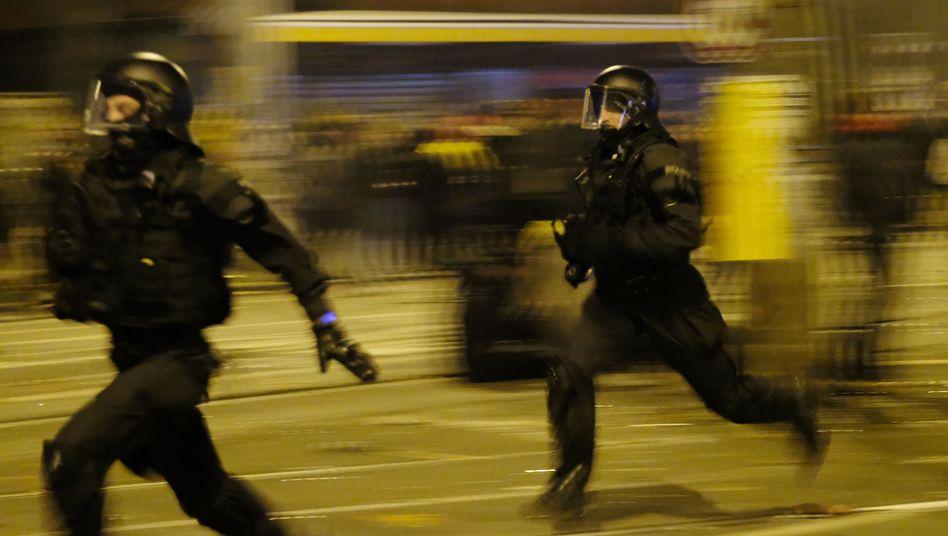 Polizeieinsatz in Leipzig-Connewitz zum Jahreswechsel