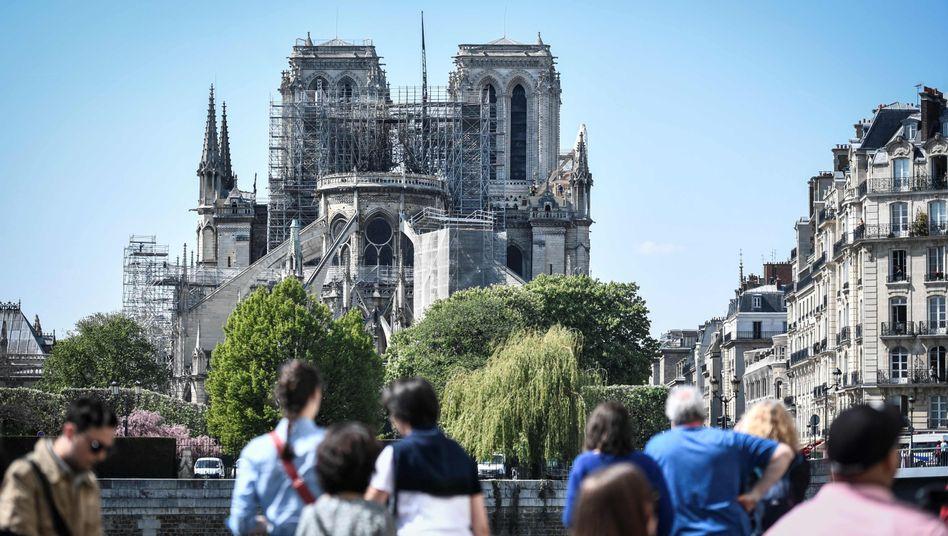 Kathedrale Notre-Dame in Paris nach dem Brand