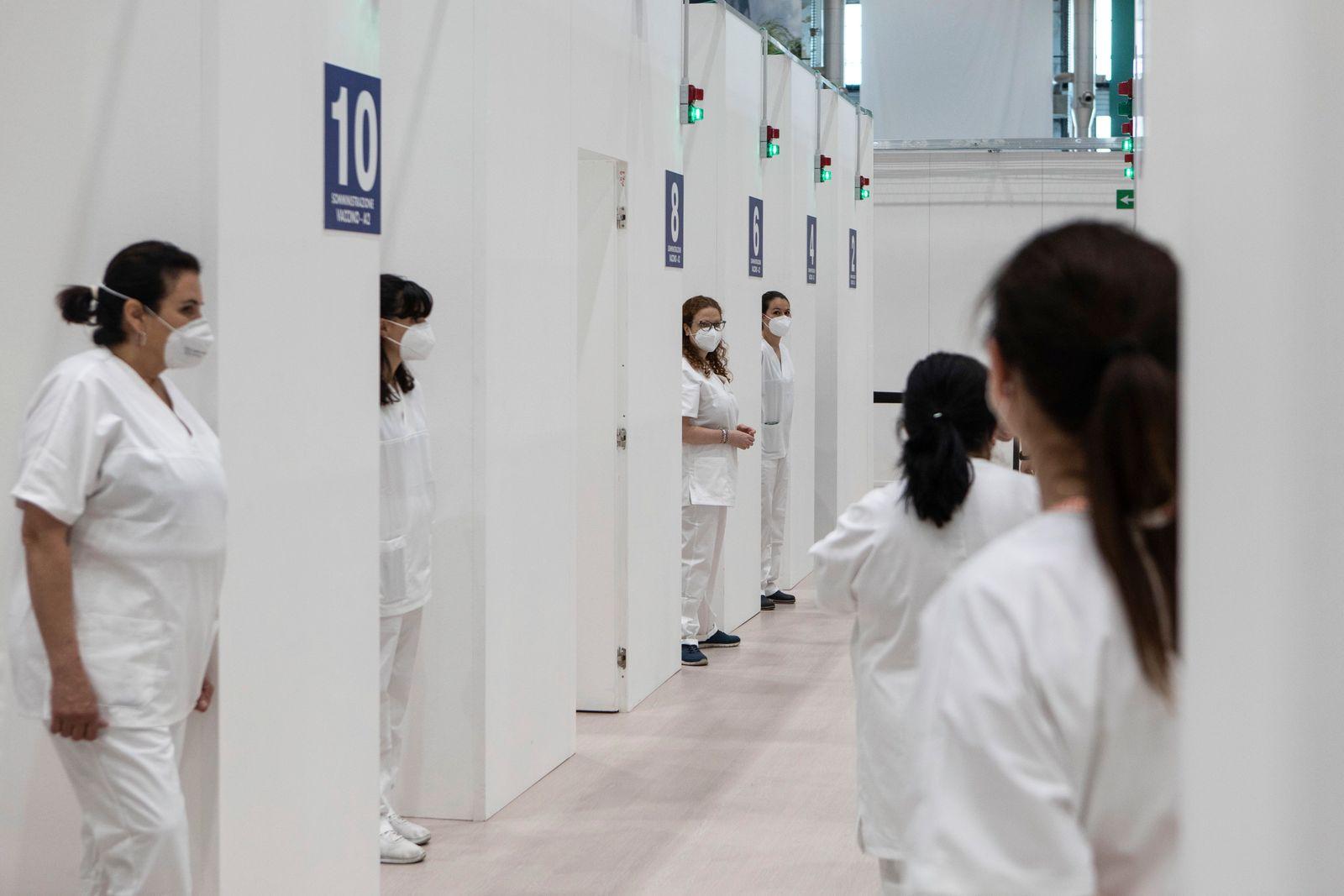 Milan Opens Mass Covid-19 Vaccination Centre