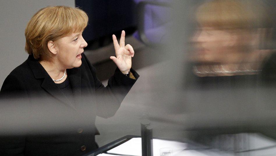 """Bundeskanzlerin Merkel: """"Jetzt geht es darum, klug aus der Talsohle herauszukommen"""""""
