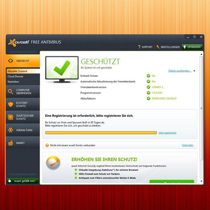 Kostenloser Virenscanner: Avast Free Antivirus