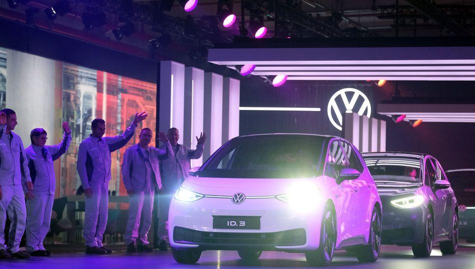 Heute beginnt die Produktion des Elektroautos ID 3 von Volkswagen in Zwickau