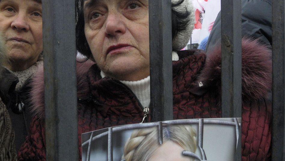 Demo für die Freilassung von Timoschenko: Europa diskutiert EM-Boykott