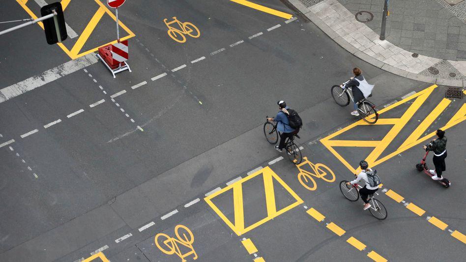 Neue Radwege in Berlin