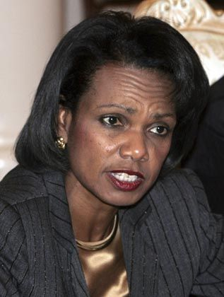 US Secretary of State Condoleezza Rice in Moscow.