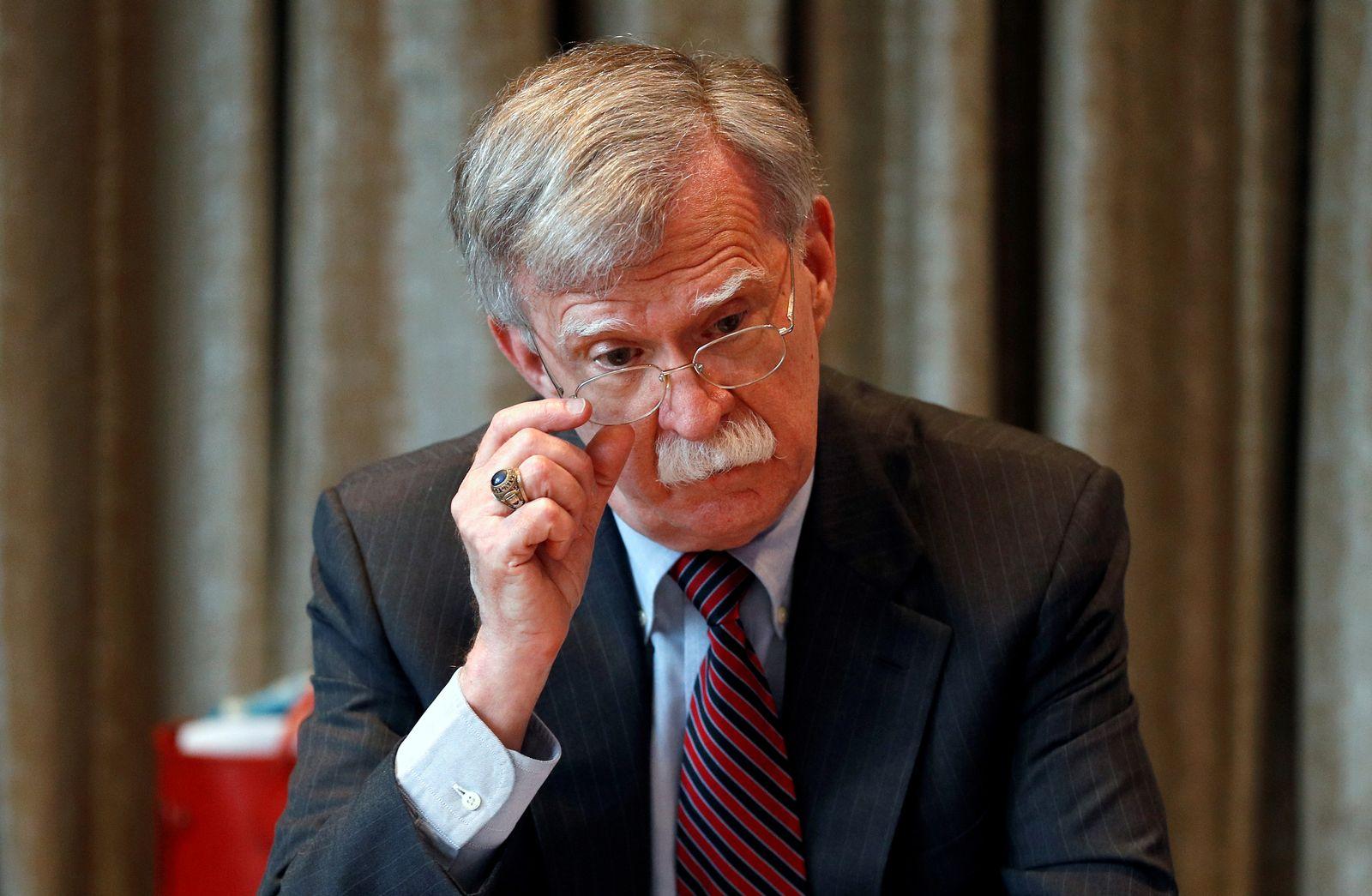 FILE PHOTO: U.S. National Security Advisor John Bolton visits London