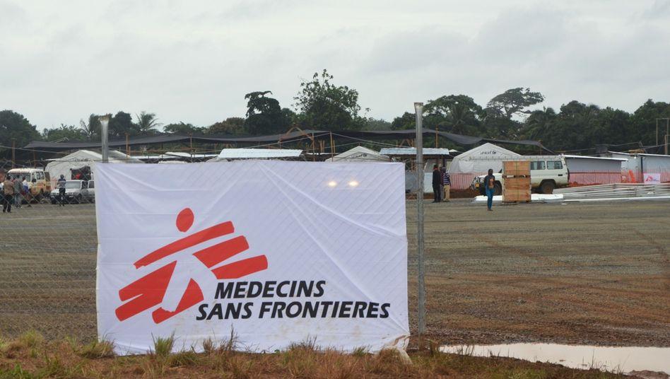 Banner von Ärzte ohne Grenzen
