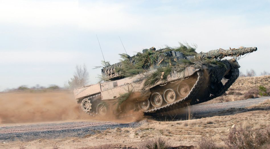 Everyone wants one: A Leopard 2 battle tank during exercises.