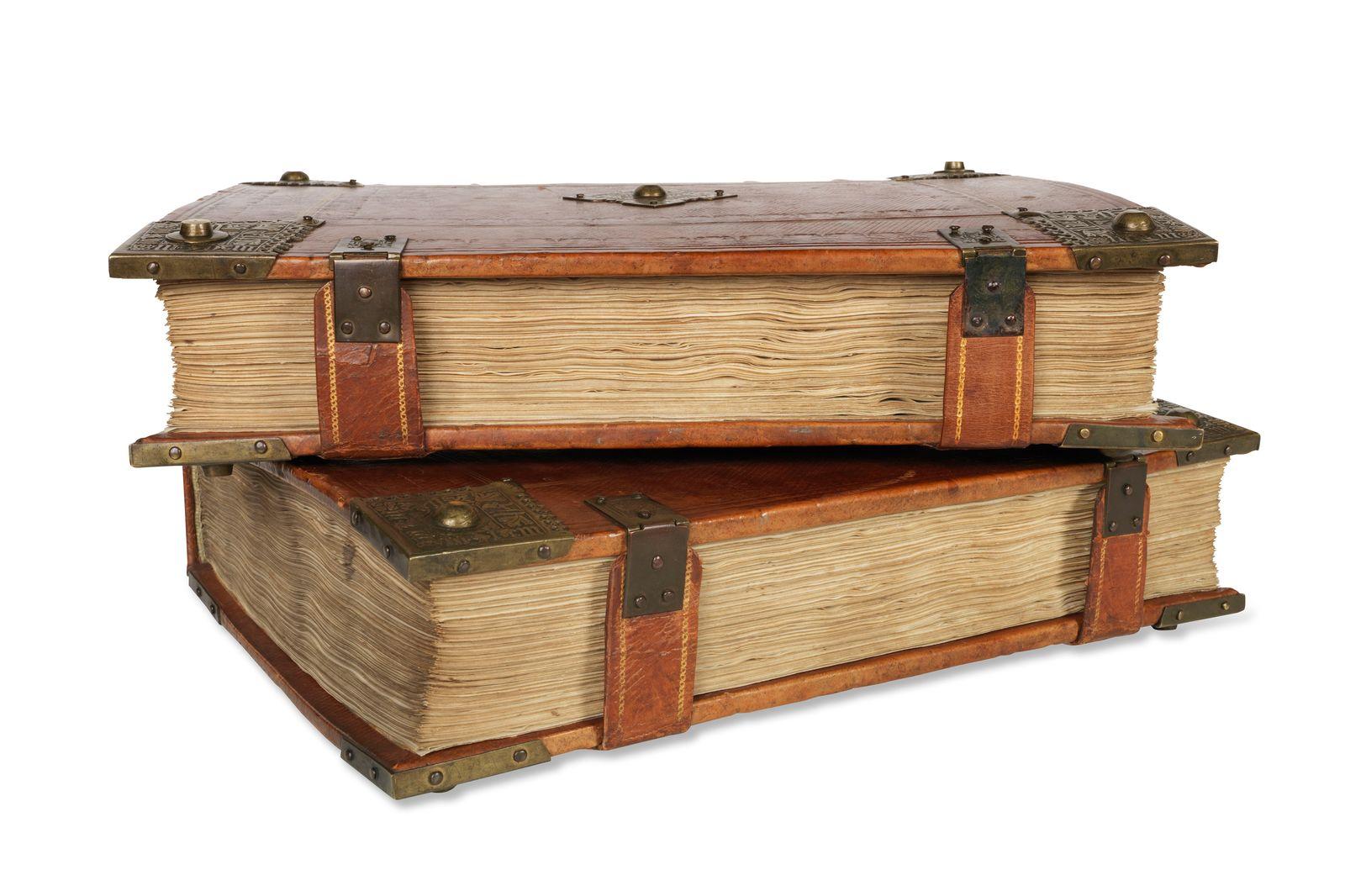 EINMALIGE VERWENDUNG Auktion/ Bibel aus Gutenberg-Presse