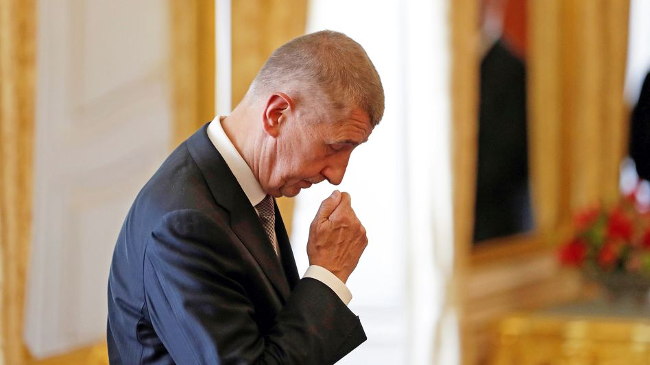 Andrej Babis bei seiner zweiten Ernennung zum Regierungschef am 6. Juni