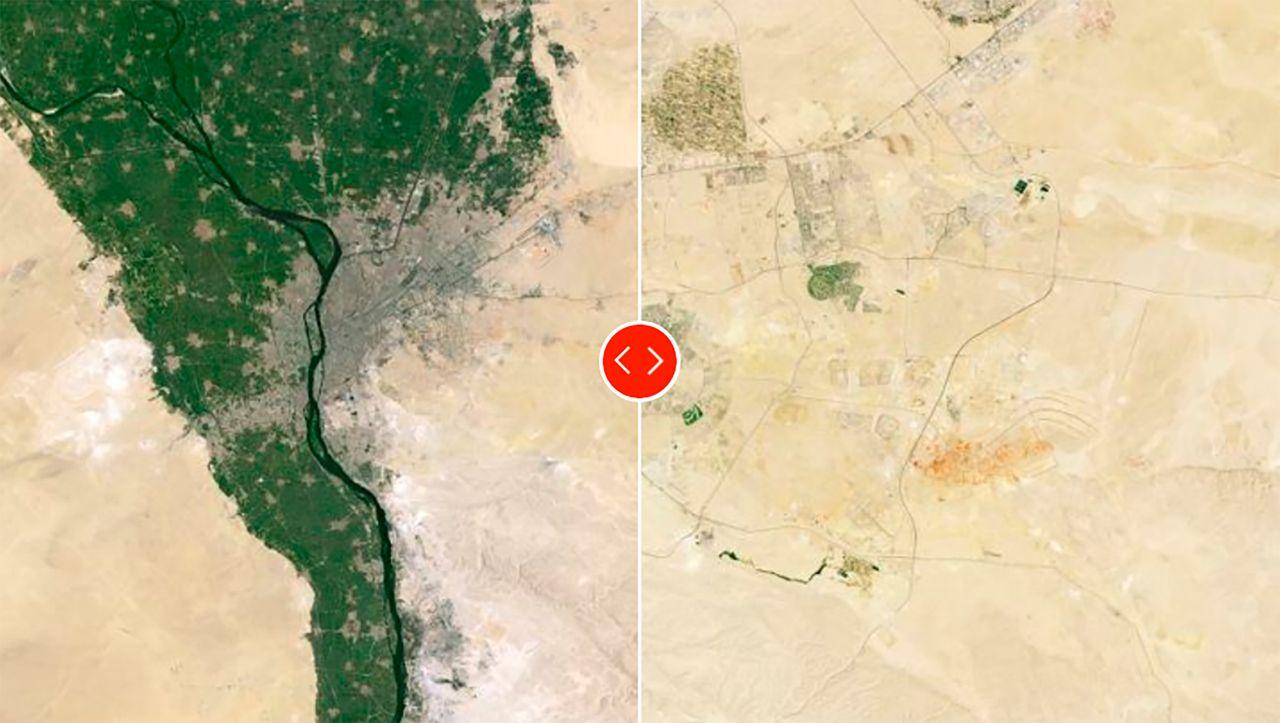 Kairo: Satellitenbilder zeigen Fortschritte beim Bau von Ägyptens neuer Hauptstadt - DER SPIEGEL - Wissenschaft