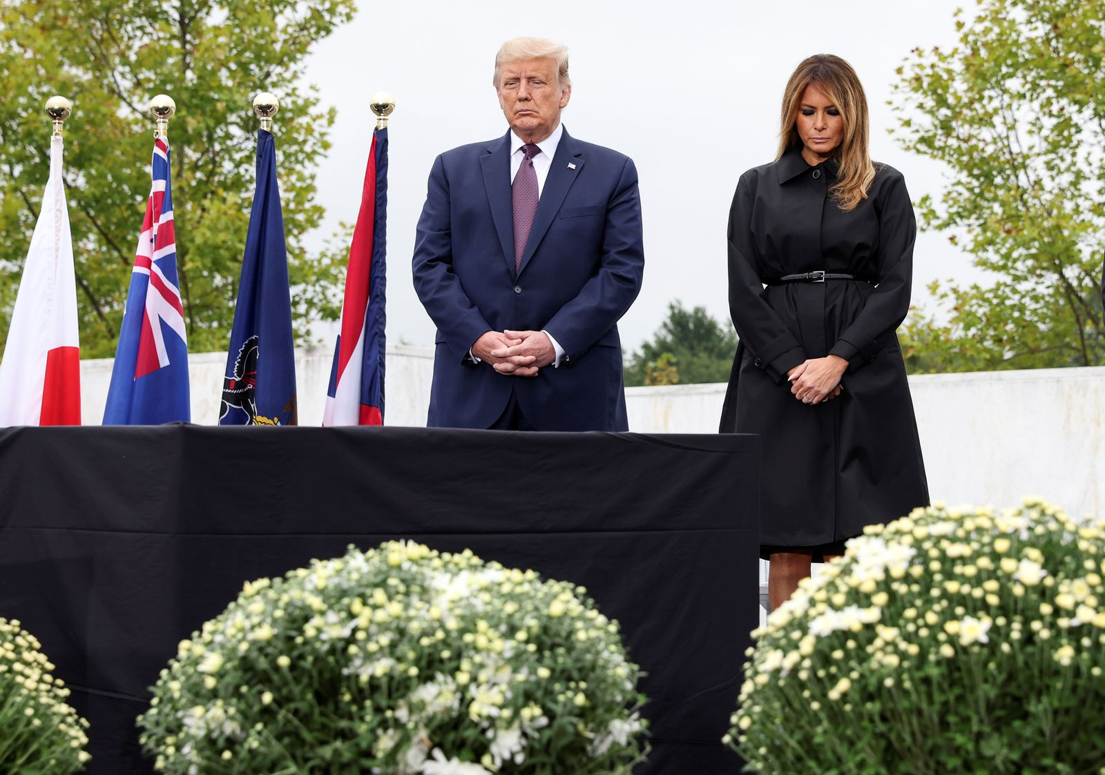 U.S. President Trump visits Flight 93 National Memorial during 19th annual September 11 observance in Stoystown, Pennsylvania