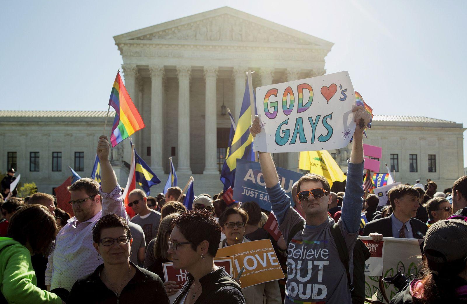 Demo für Rechte von Homosexuellen/