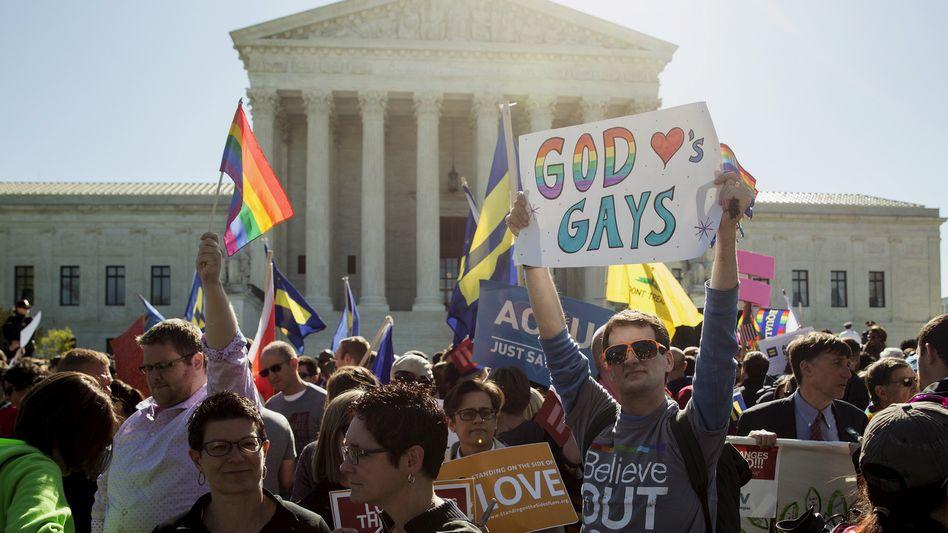 Protest in Washington vor dem Supreme Court (Archiv): Historische Entscheidung