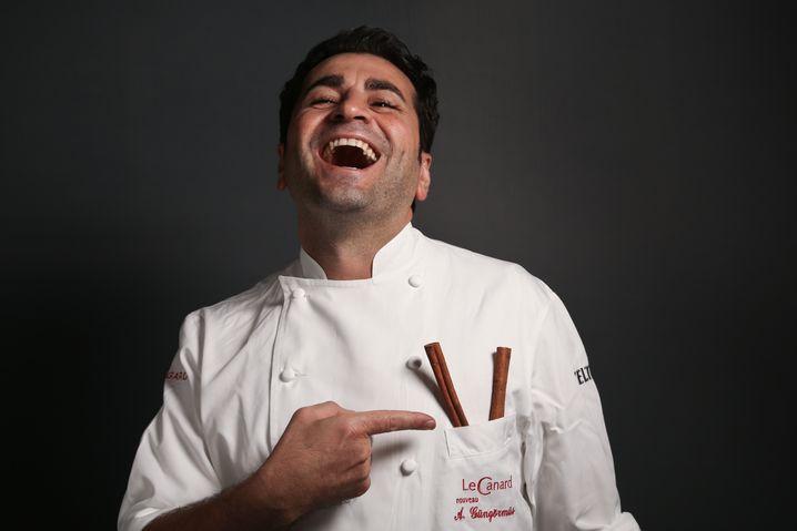 Ali Güngörmüs, 36, head chef and owner of Le Canard Nouveau restaurant, Hamburg
