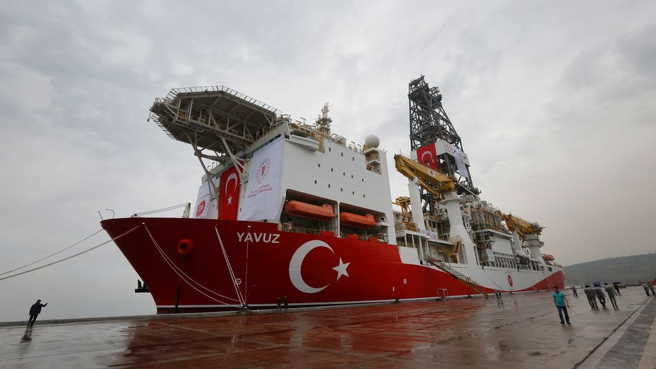 """Bohrschiff """"Yavuz"""" im Hafen von Dilovasi (Archivbild)"""