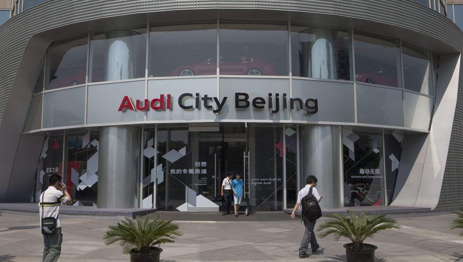 Audi-Autohaus in Peking: Volkswagen-Tochter gesteht Wettbewerbsverstoß