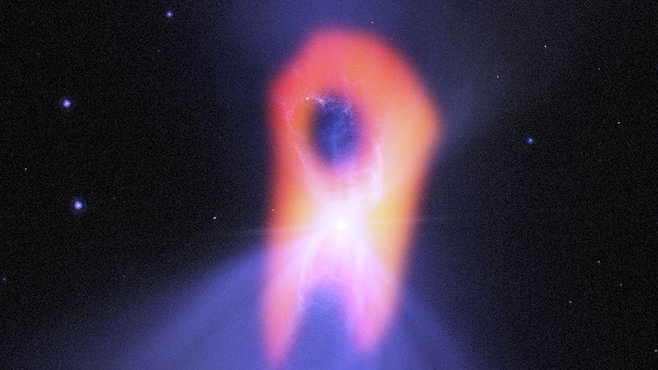 """""""Alma""""-Bild des Bumerang-Nebels: Einer der kältesten Plätze im Universum hat bei genauem Blick kaum Ähnlichkeit mit einem Bumerang"""