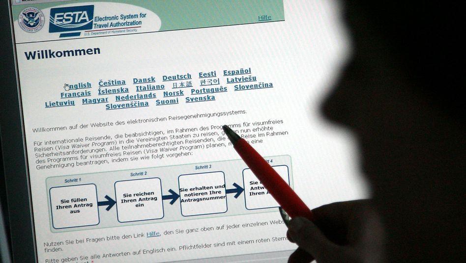 Esta-Formular: Reisende sollten sich spätestens 72 Stunden vor Abflug registrieren
