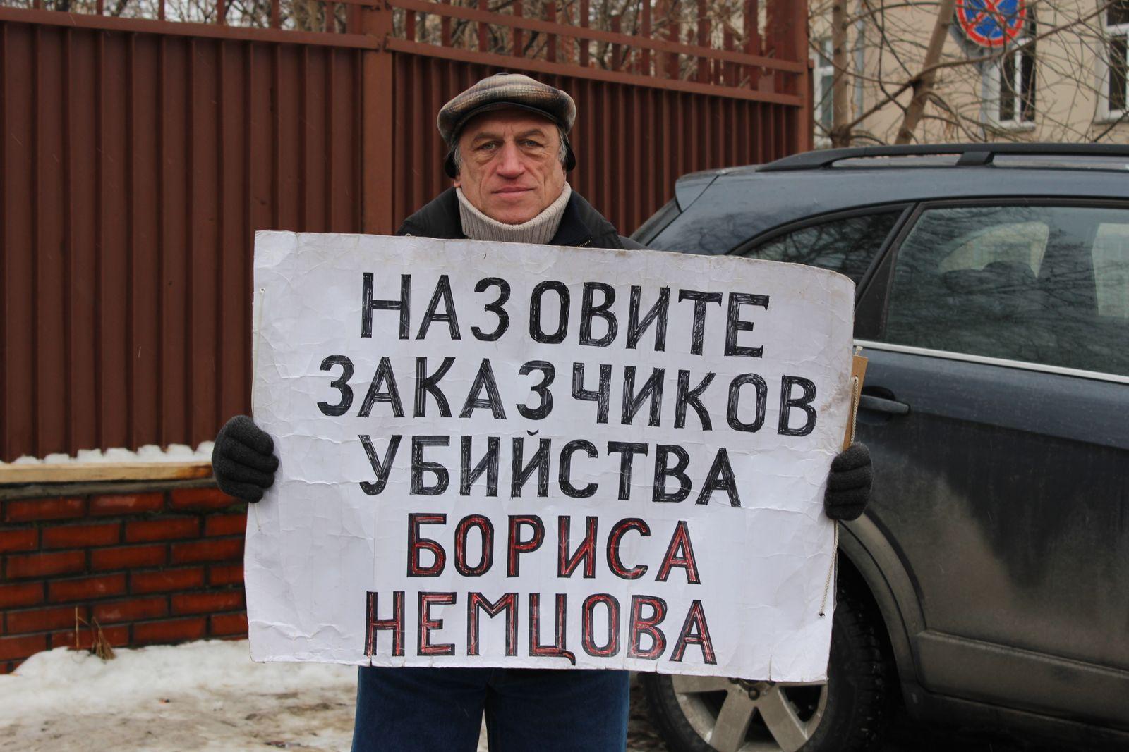 EINMALIGE VERWENDUNG Nemzow / Moskau