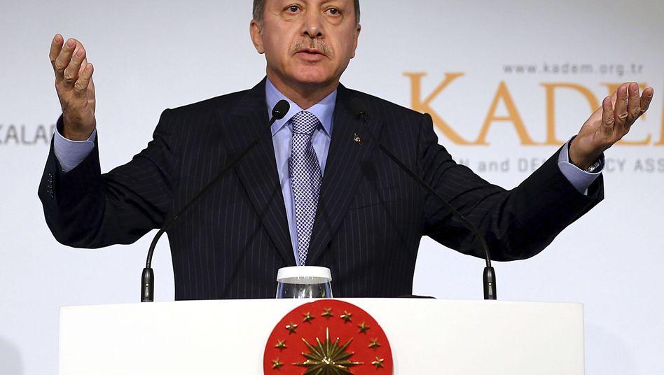 Präsident Erdogan (Archiv): Kritiker haben psychische Probleme