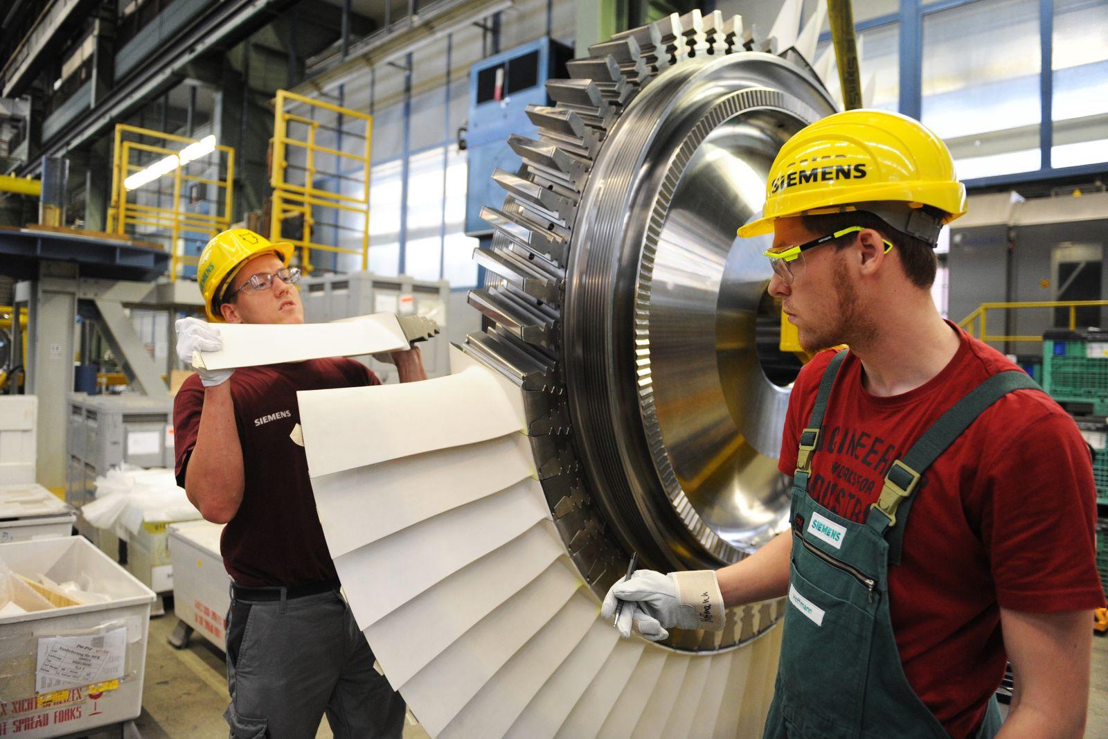 Deutschland / Konjunktur / Wirtschaft / Industrie / Turbinenwerk / Siemens-Geschichte