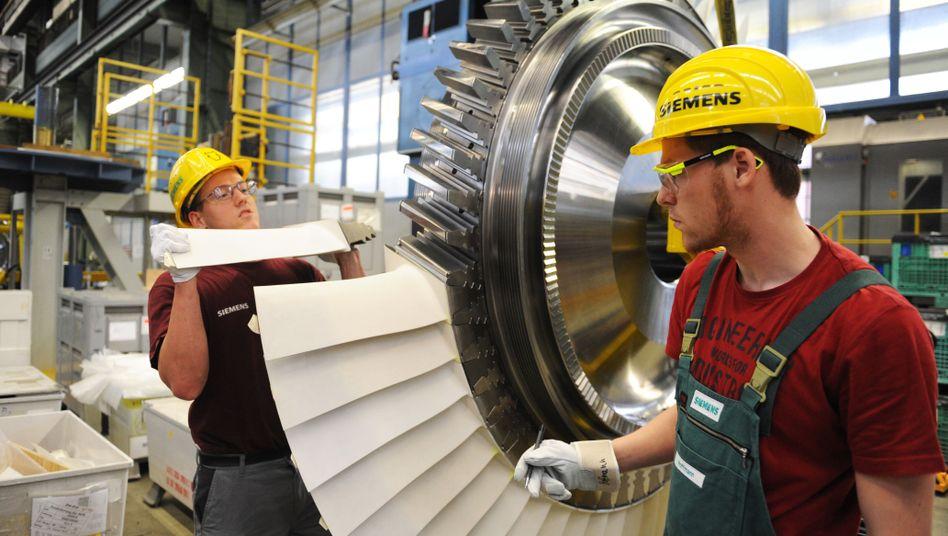 Fertigung von Siemens-Gasturbinen