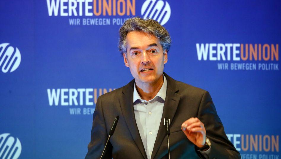 Alexander Mitsch, Bundesvorsitzender der WerteUnion, 2019 bei der Jahrestagung in Filderstadt