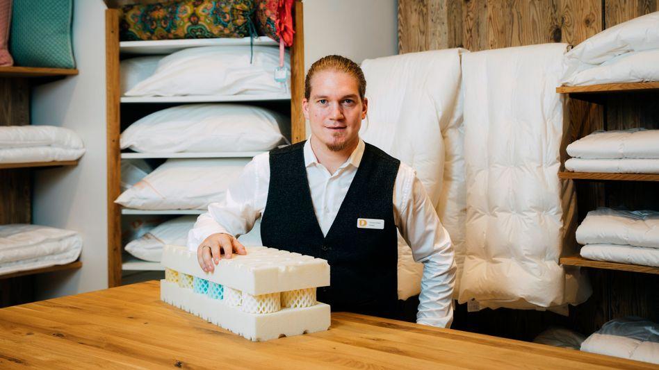 Thomas Deisler zog von Stuttgart zurück aufs Land nach Gundelfingen und übernahm das Matratzengeschäft seiner Eltern