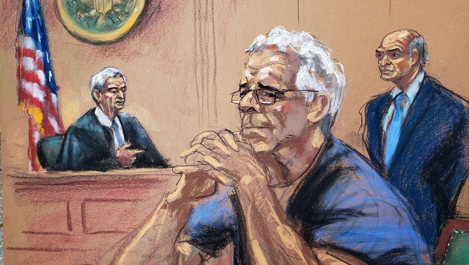"""Jeffrey Epstein bei einer Anhörung vor Gericht: Sein Tod """"wirft ernste Fragen auf, die beantwortet werden müssen"""""""