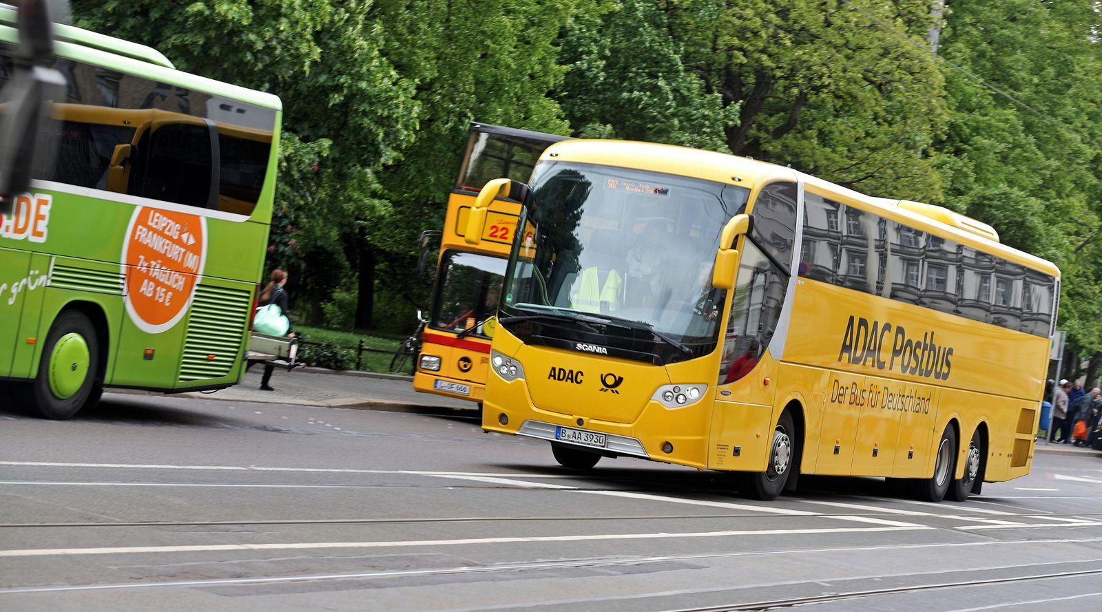 Fernbus in Leipzig