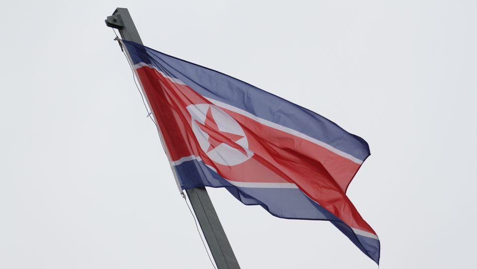 Nordkoreanische Flagge: Bisher keine Infektionen mit Covid-19 im eigenen Land bestätigt