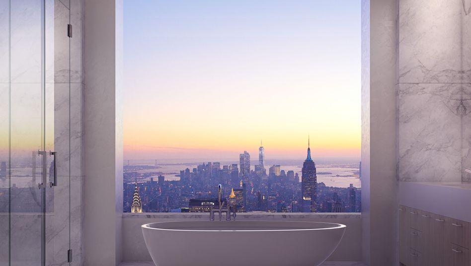 """Penthouse-Badezimmer in 432 Park Avenue: """"Die Welt gehört Ihnen"""""""
