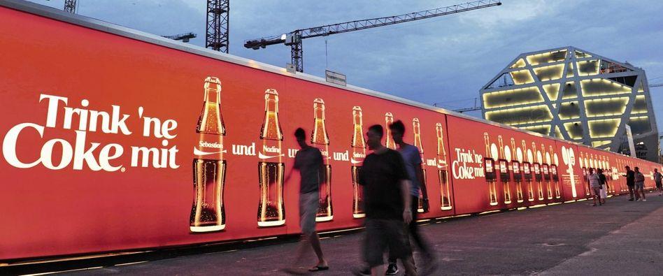 Werbewand in Berlin