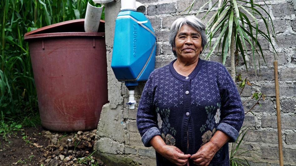 """Haushalte können mit dem System von """"Isla Urbana"""" ihr eigenes Trinkwasser produzieren - zumindest in der Regenzeit"""