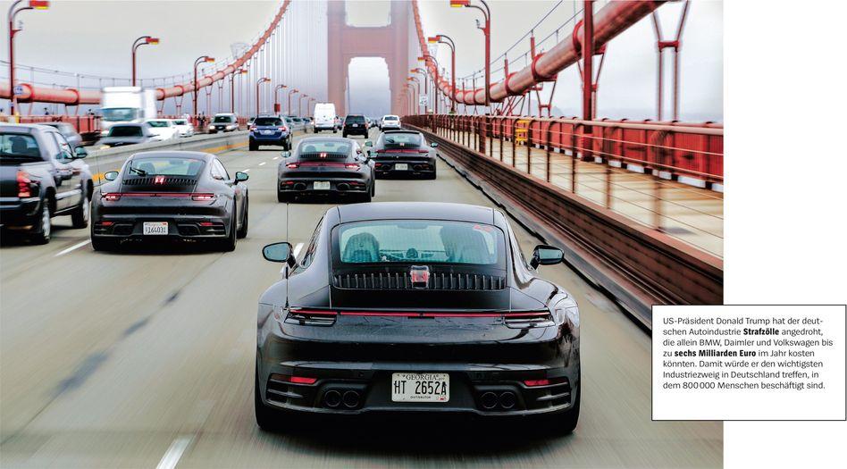 Porsche-Wagen in San Francisco