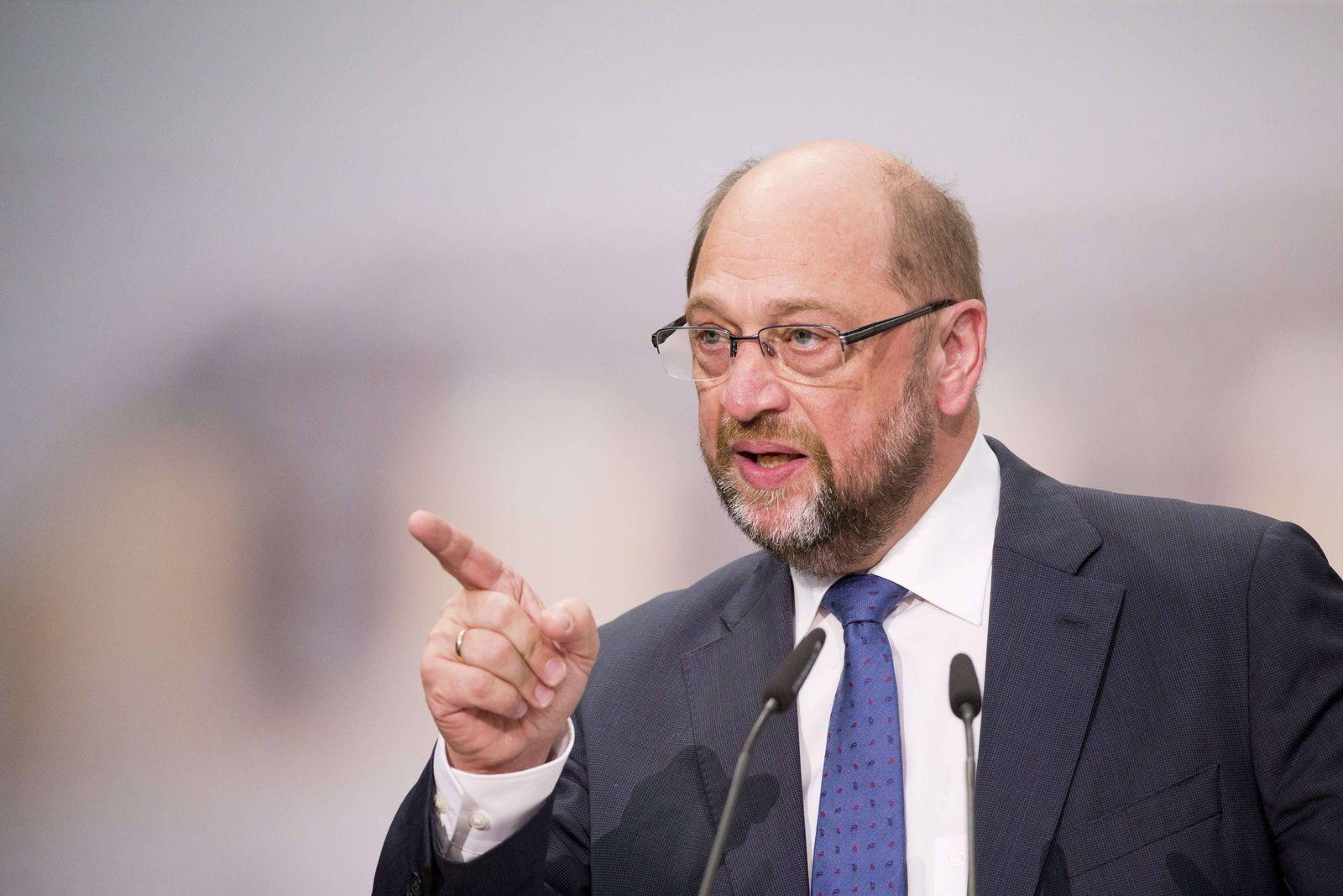 EINMALIGE VERWENDUNG Martin Schulz
