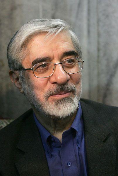 """Candidate Mir Hossein Mousavi: """"I too will not suspend uranium enrichment."""""""